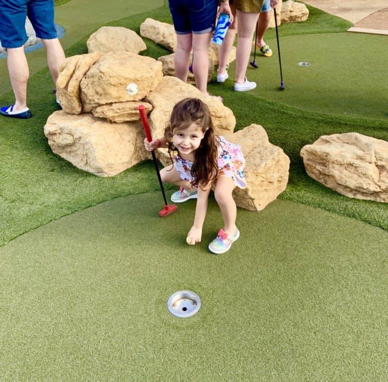 Julia Playing Mini-Golf
