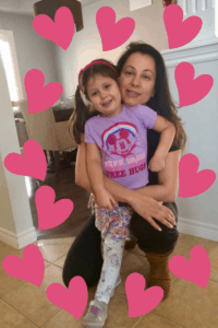 Single Parent On Valentine's Day Mom and Daughter and Hearts