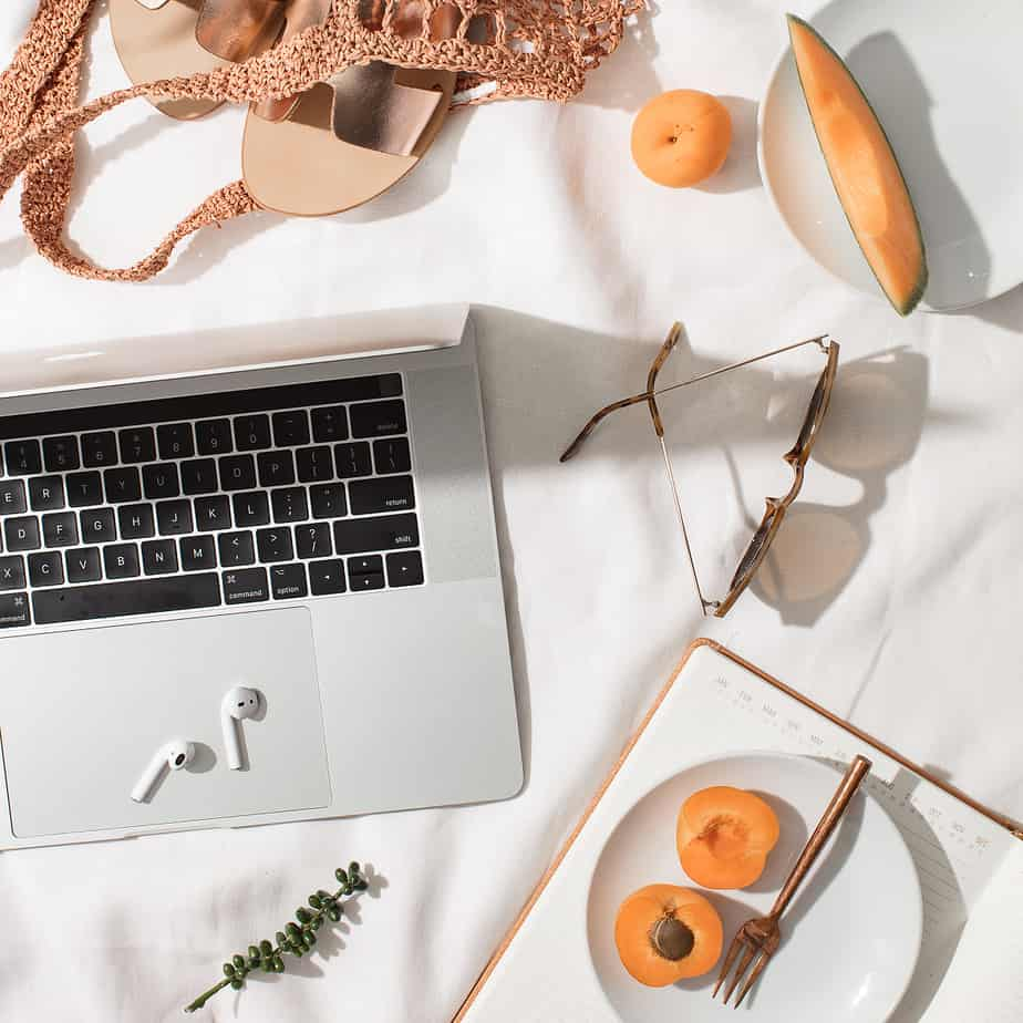 How To Have Self Discipline Fruits and Laptop